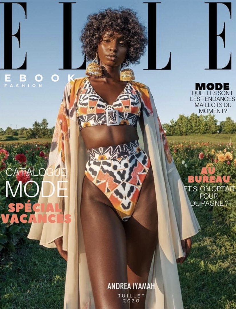 Guys.. this is my first cover + spread and it's for Elle 🥺 This was such a beautiful team to work with at Andrea Iyamah 💛 Please see IG tags in reply below.