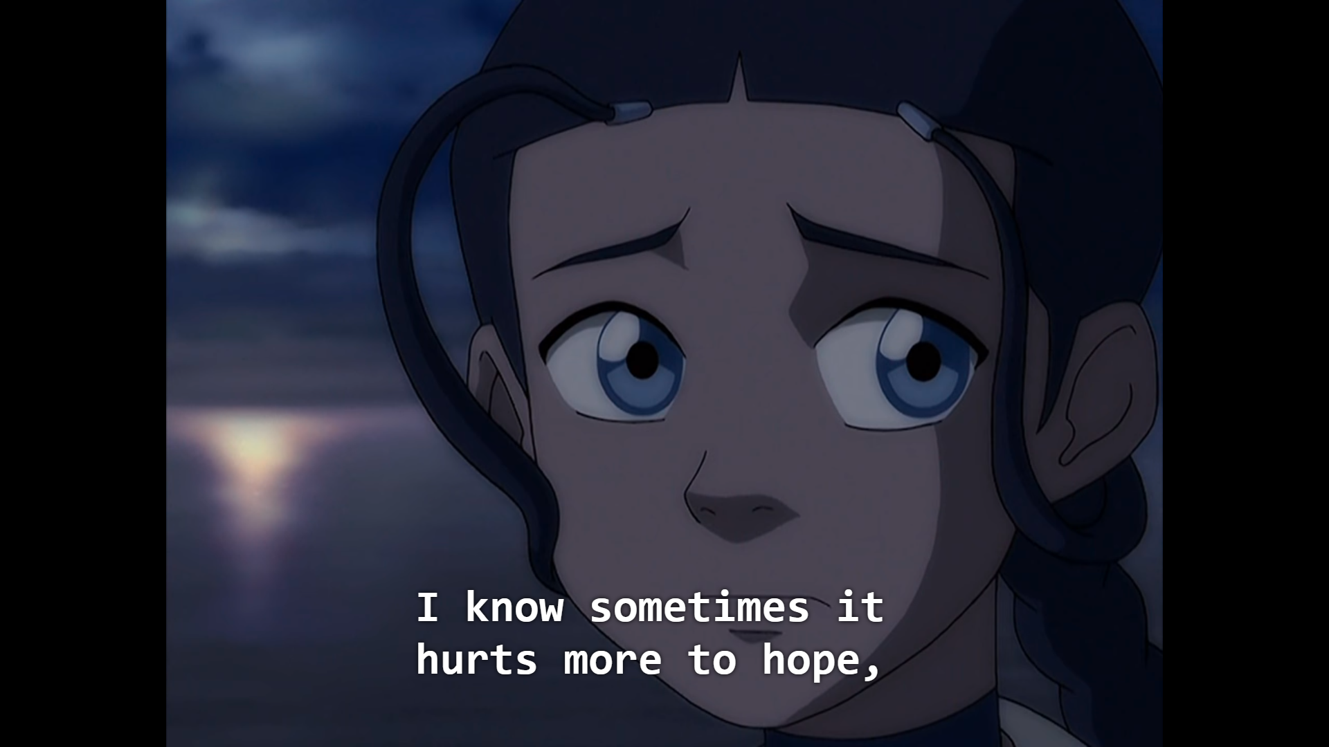 """🌈#FreeThemAll a Twitter: """"this scene from avatar: the last airbender feels  relevant re: trying to be grounded in hope and care... """"I know it hurts  more to hope and it hurts more"""