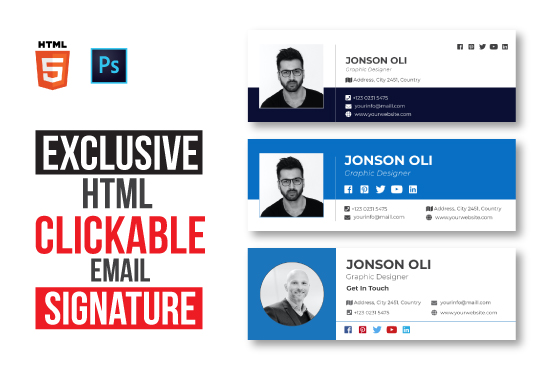 Are you looking #Email #signatureline  #EMAIL  #Click  #design #graphics  #Fiverr Hire me: >>>>>> <<<