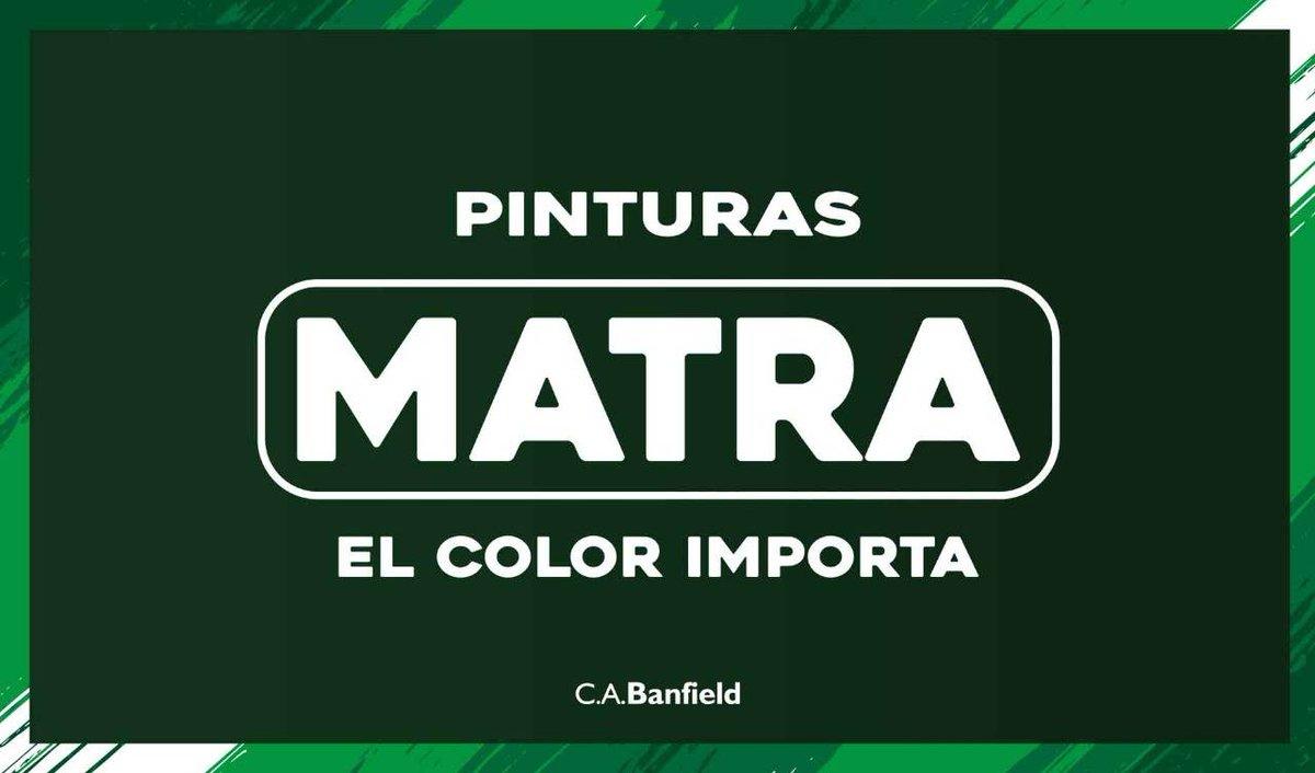 Pinturas Matra, poveedor oficial del Club Atlético #Banfield https://t.co/DT9Jt4x1U2 https://t.co/Hu8LOOQCWu