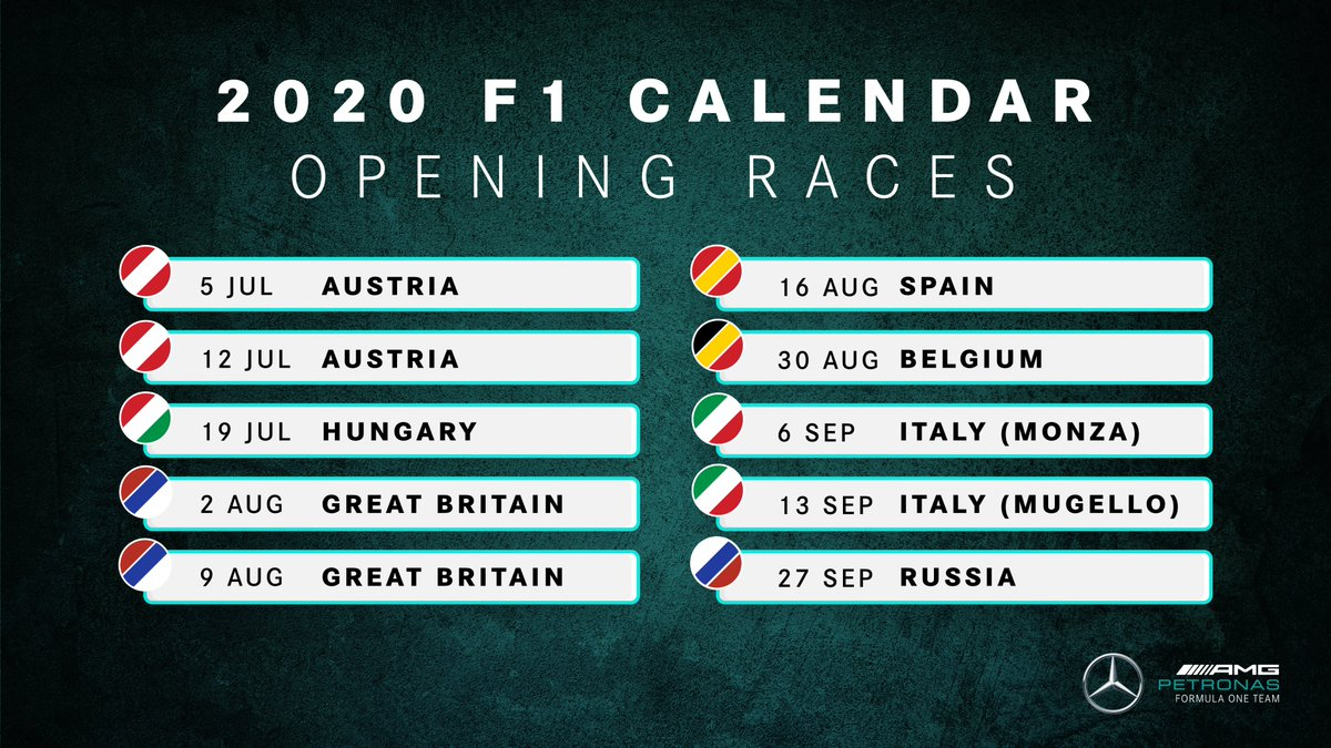 Hear that Team, we're going to Mugello! ❤️🤍💚   Which track would you LOVE to see on the 2020 @F1 calendar... 💭 https://t.co/3pYaqRpWUM