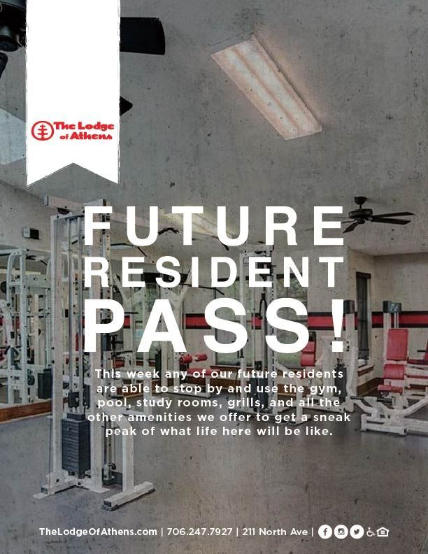 Our future resident's pass ends tomorrow! Make sure to stop by to check out all the amazing amenities you'll have access to as a resident. #uga #godawgs #georgia #georgiafootball #collegefootball #ugafootball #georgiabulldogs #dawgs #atlanta #dawgnation #universityofgeorgia #sec https://t.co/97698LlnDG