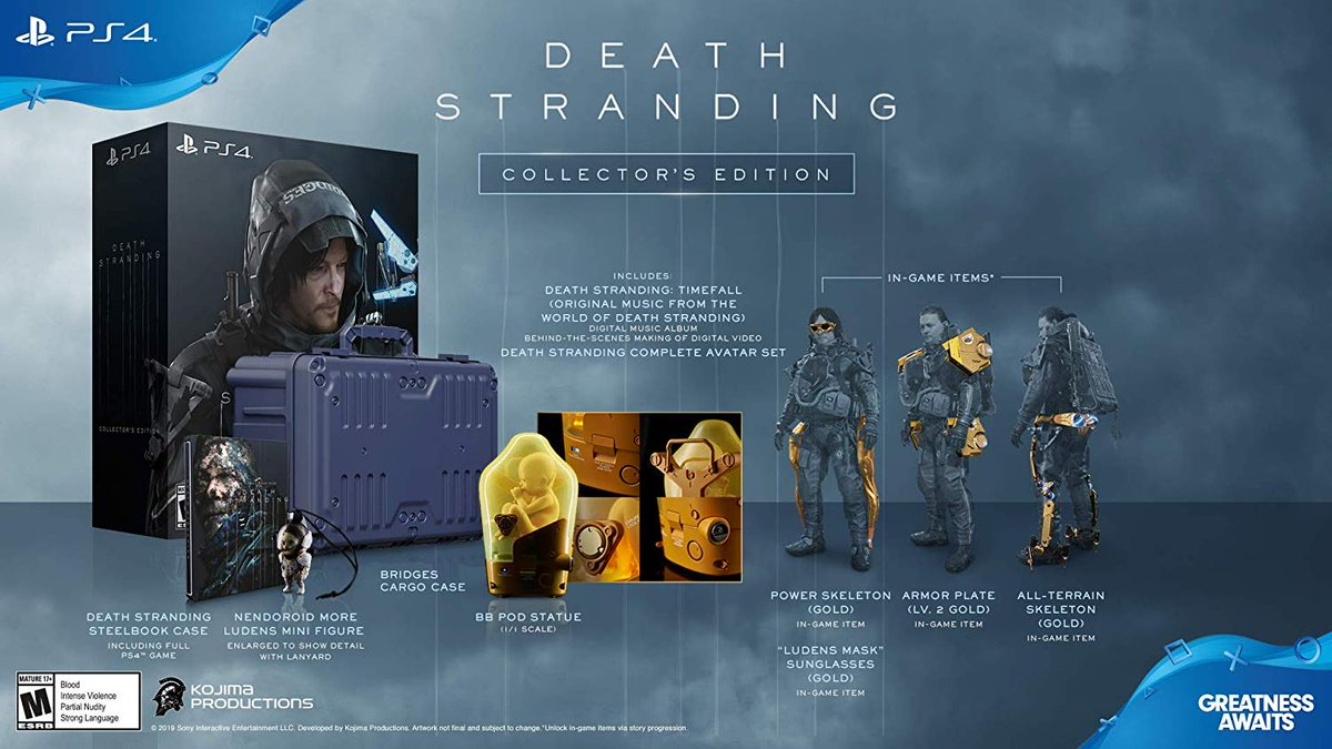 Death Stranding Collectors Edition (PS4) is $69.99 on Amazon (nice) amzn.to/36DUMkd