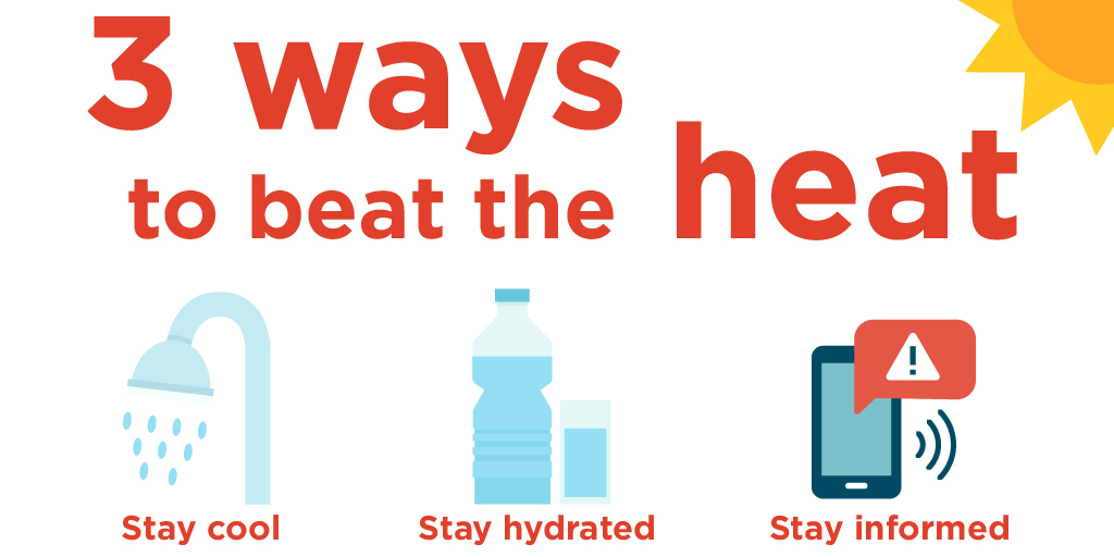 Stay Cool. Stay Hydrated. Stay Informed, Miami. Please take care of yourself by drinking plenty of water, wearing sunscreen, staying in the shade when possible & always reviewing the weather before going outside. ☀️