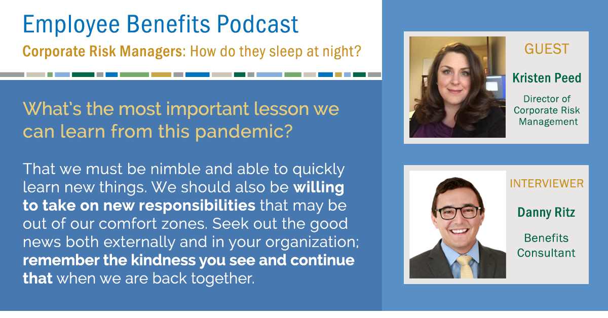 Great insight from Kristen Peed in an episode of our Employee Benefits Podcast. Check out the full interview: https://t.co/aXxfRNV5mk https://t.co/VxABjCLfxj