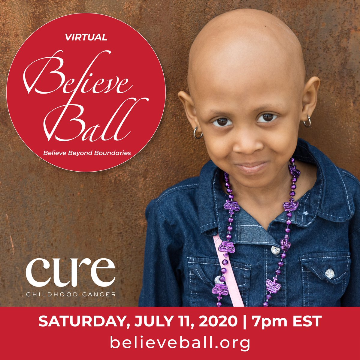 Join me and some special guests on Saturday, July 11 at 7 pm EST at @CUREchildcancer's #VirtualBelieveBall. Tune in at believeball.org and help us beat childhood cancer.