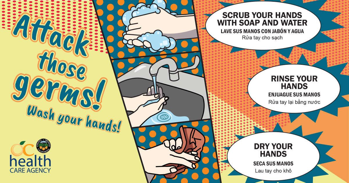 Effective hand washing is especially important to help prevent the virus from spreading during the #OCCOVID19 outbreak. #KeepHandsClean: wash them after being in a public place & blowing your nose, coughing or sneezing. Visit http://www.ochealthinfo.com/novelcoronavirus … for more resources.pic.twitter.com/urgtw76kdU