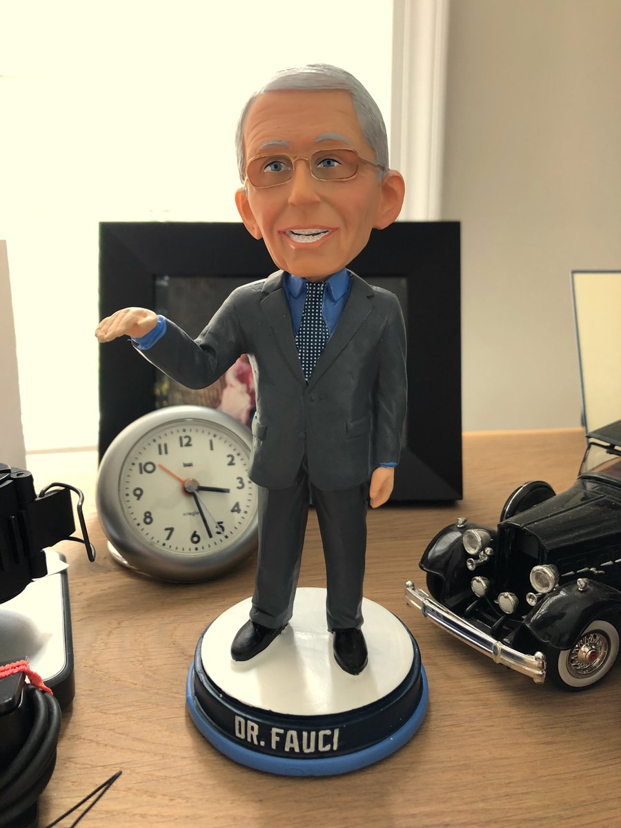 Delighted to announce that I have received my official Dr. Fauci Bobblehead doll. https://t.co/Sa8jjeUufq