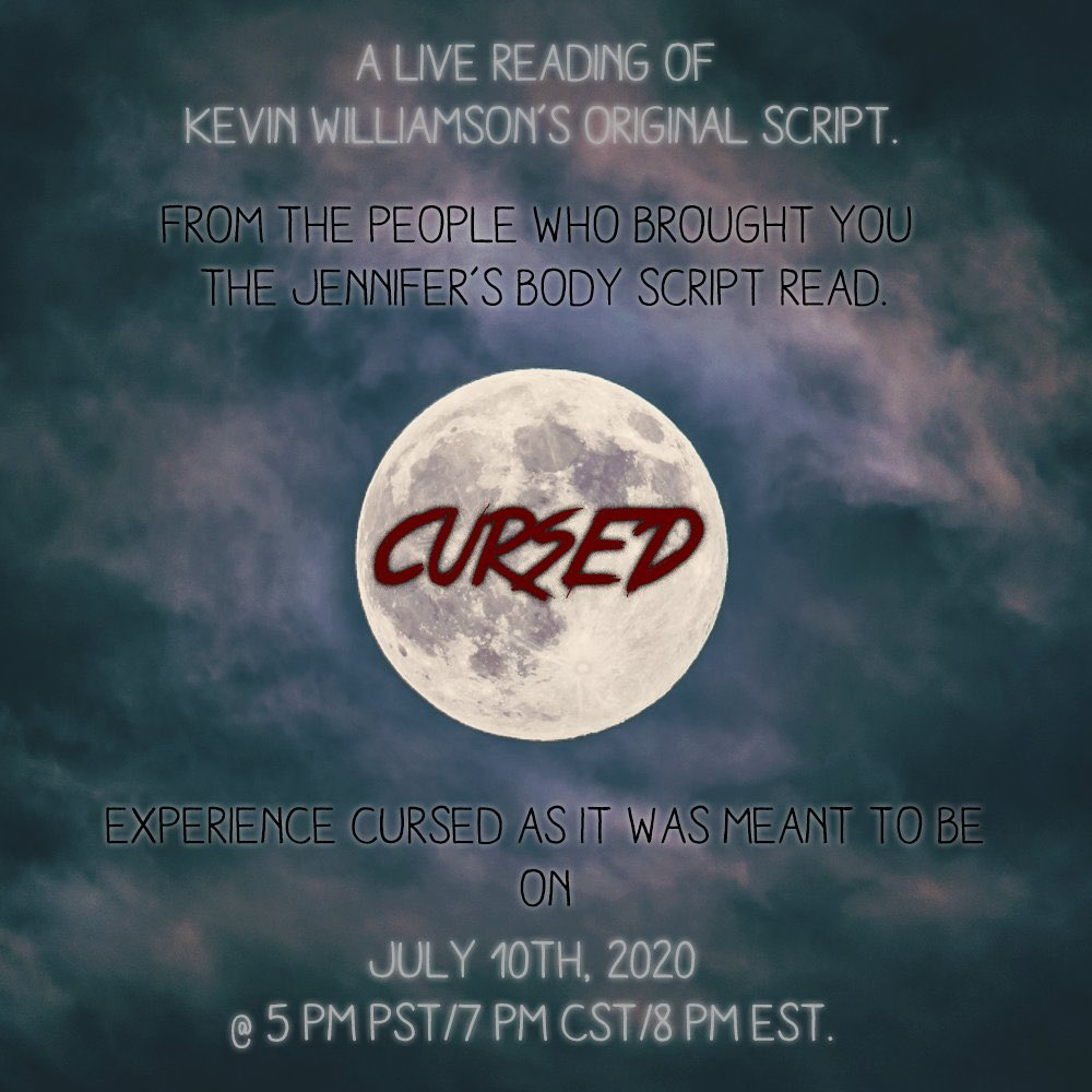 TONIGHT ONLY! Join us for a live script reading of CURSED. I will be playing Scott Baio and the news people (complete with props and costume changes). Make sure to join us at 5 PM PST/7 PM CST/8 PM EST! YouTube Link: youtu.be/X7uWSM88Km8 Twitch Link: twitch.tv/ThatDevinGuy