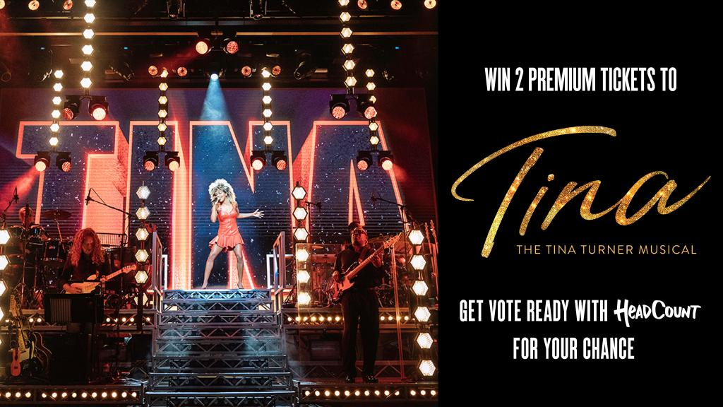 We're proud to partner with @HeadCountOrg, a non-partisan org that promotes civic participation through the arts. Now through Oct 1, check your voter registration & be automatically entered to win 2 premium tickets to #TinaBroadway in 2021: headcount.org/Tina #BroadwayVotes