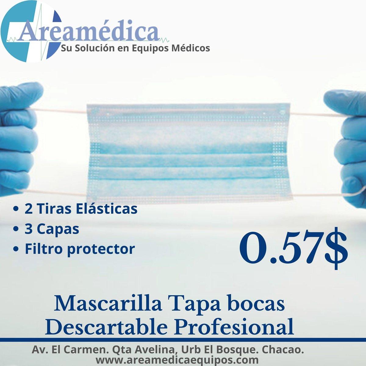 🔹🔹🔹 Mascarilla Descartable Profesional 🔹🔹🔹. . ⚕️ Excelente barrera de protección frente a patógenos externos.  #AreaMedica su solución en equipos médicos. . . . #equiposmedicos #medicina #mascarilla #follow #tapaboca #salud #prevencion #medicinavzla #virus https://t.co/Nh11vc1xTm