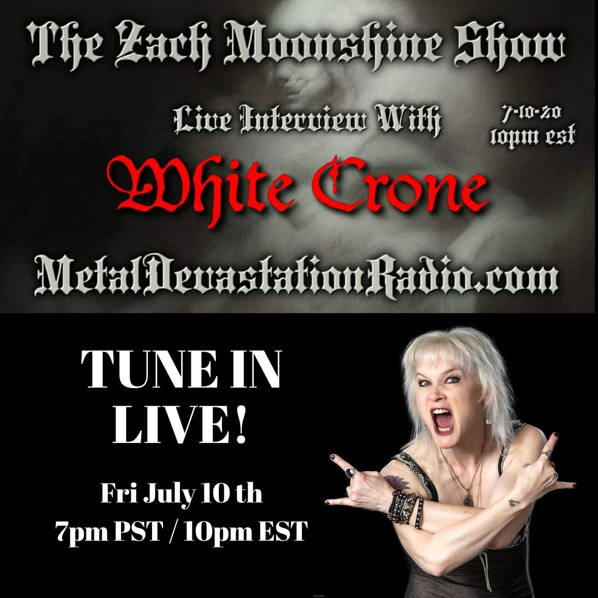 Looking forward to chatting with Zach Moonshine tonight! 7pm Pacific/ 10pm Eastern @MDR666ZM #metal #heavymetal #bassplayer #femalefrontedmetal #metaldevastationradio #nwothm #traditionalmetal #notdungeonsynthpic.twitter.com/4cIvAiK2yM