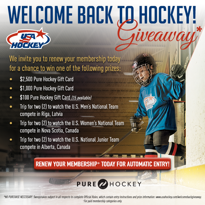 Check out these prizes! 👀 Giveaway details & official rules → usahockey.com/welcomebackgiv…