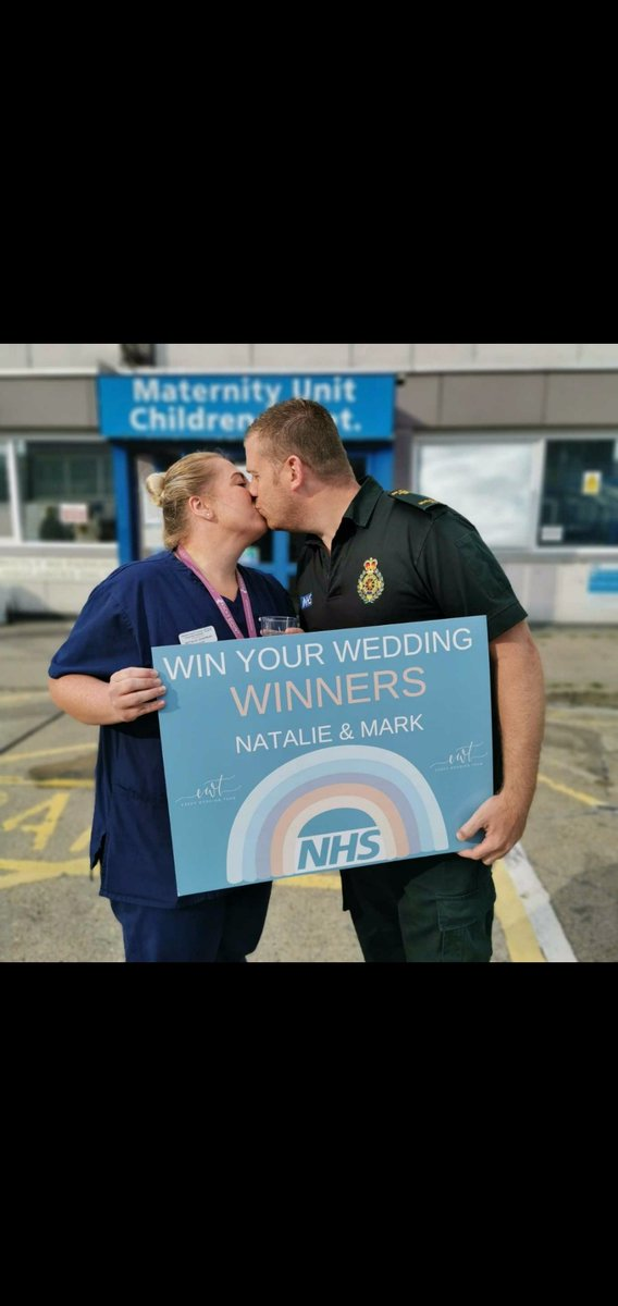 Congrats to #BasildonHospital midwife Natalie Chapman, and her fiancé Mark Bomford, who were stunned to learn theyd won their wedding day, a prize worth over £26,000! It was organised by a group of #Essex wedding suppliers to give someone in the #NHS their big day #nhswedding