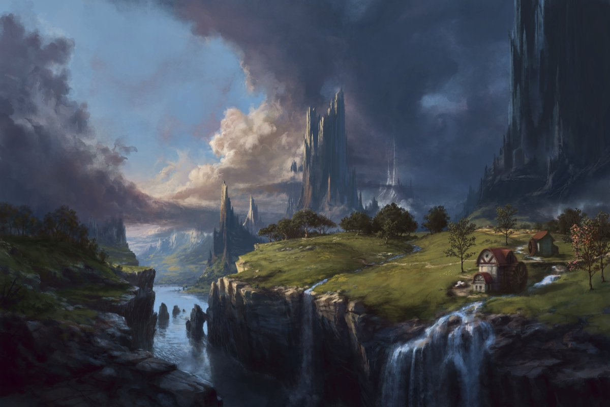 Wip day 3. Some additions and details. Going for the finish, grading not finished. #digitalart #painting #fantasy #krita #environment #wippic.twitter.com/Ab58yd2g3Z