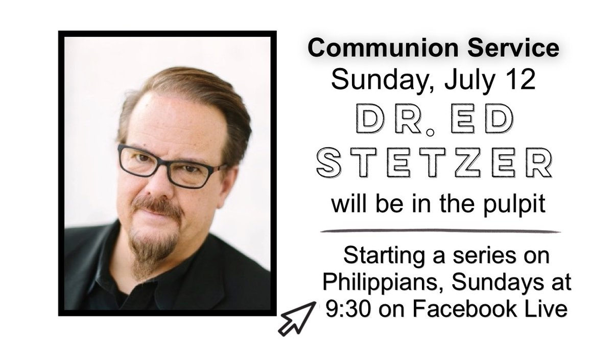 This Sunday we are pleased to welcome back guest preacher Dr. Ed Stetzer for a special Communion Service. Dr. Stetzer will be starting a multi-week series based in Philippians. Any type of bread/cracker or juice may be used for Communion. @edstetzerpic.twitter.com/5YmjJmL1C1