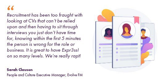 Evolve FM have said it all! Thanks for the words Sarah 🙏  Just imagine how much better your life and business will be when you have absolutely awesome staff perfectly matched to every role 👌  #hrtech #humanresources #recruitment #employment #predictivehiring #time #applicants https://t.co/dy3oCYeBBG