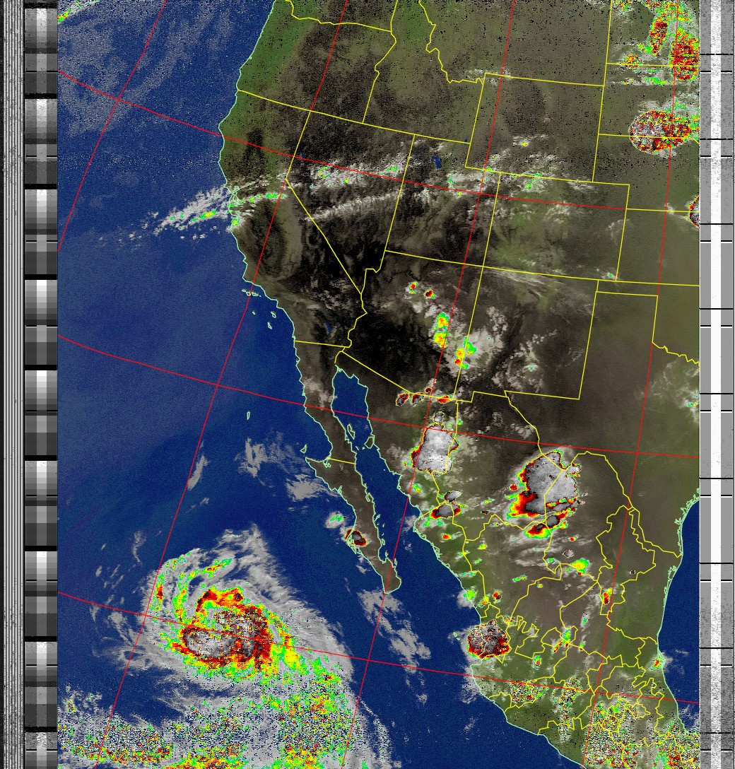 Satellite Image: NOAA 19 10-07-2020 19:58. Max Elevation: 24 Degrees. #NOAA #weather #TXlisteningpostimages #noaasatellite #RTLSDR #raspberrypipic.twitter.com/DujpCmot5R