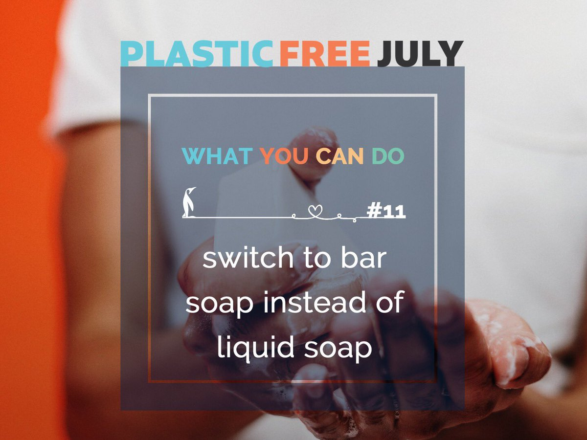 Plastic Free Tip #11 - switch to bar soap instead of liquid soap  http://bit.ly/2NUo9aC  #ecobudaustralia #switch #barsoap #handsoap #shampoobar #shampoo #soap #liquidsoap #reduce #tips #day11 #ecofriendly #plasticfreejuly2020 #plasticfreetips #plasticfree #PlasticFreeJulypic.twitter.com/hLTUFSS117