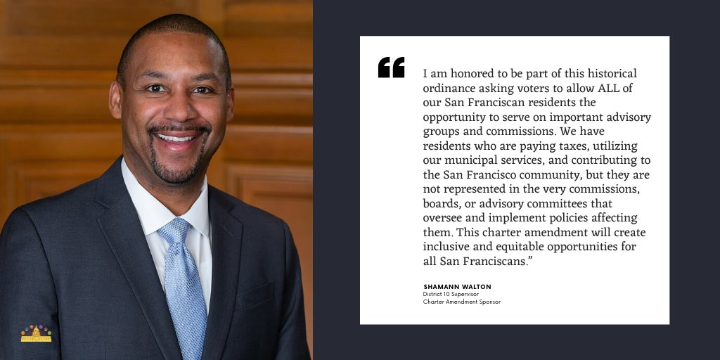 Words from Supervisor Shamann Walton, our Charter Amendment Sponsor #SFCommissionsForAll #OurVoice #OurPower @shamannwalton