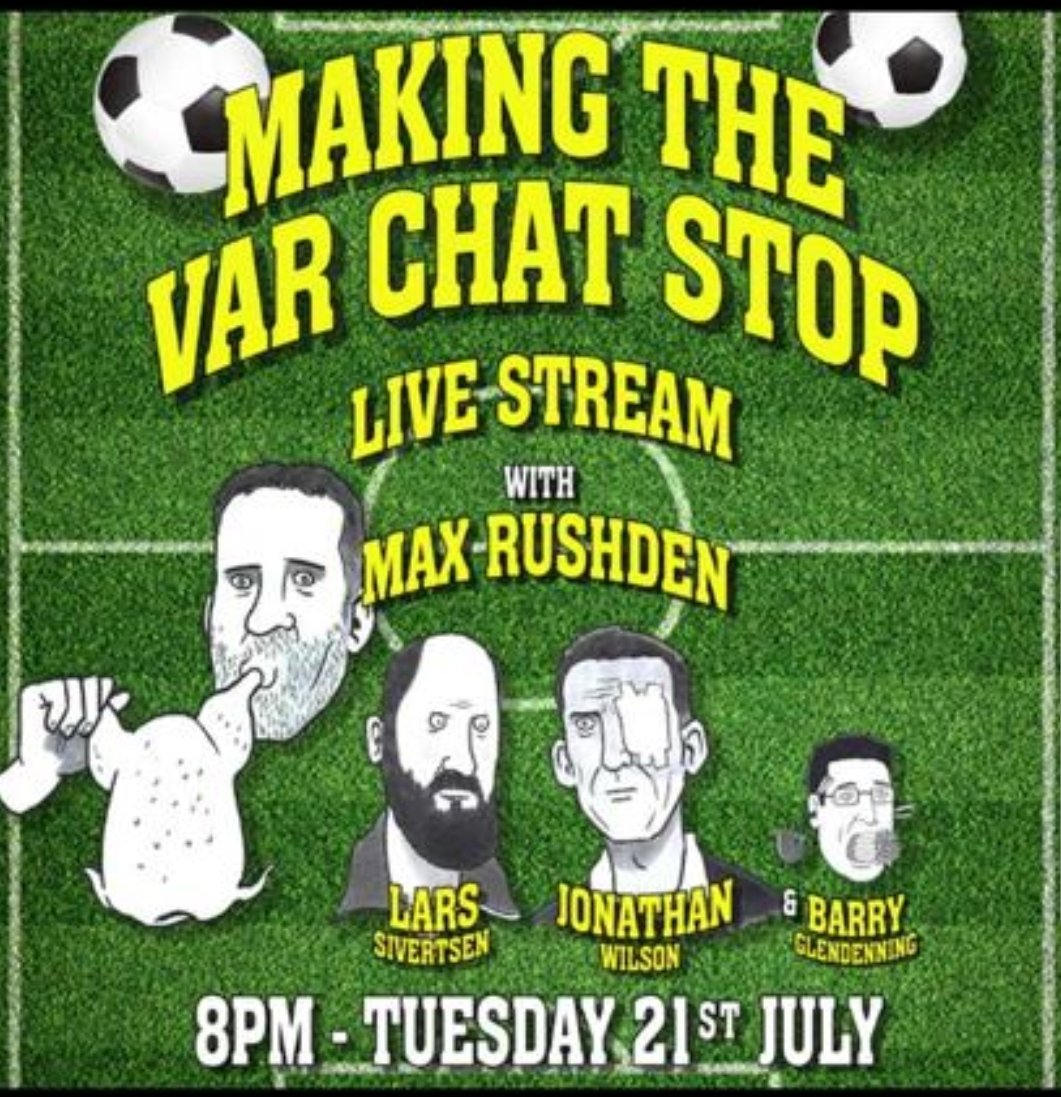 Hey! Watch from the comfort of your home as we blather on from comfort of ours. Show-and- tell, the current Mrs Rushden, Wilsons bookshelves, Lars dire wolf, my mantelpiece and much more. 90 minutes + halftime for £5. Please join us, itll be a laugh 😘 livenation.co.uk/artist/making-…