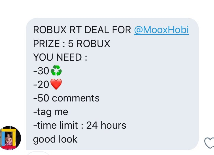 Robux Twitter Search