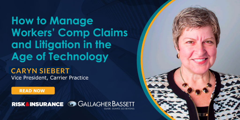 The world of claims and litigation is changing as workers' comp adopts new technologies. @CarynBSiebert discusses these changes with @RiskInsurance here: bit.ly/2Zelijk
