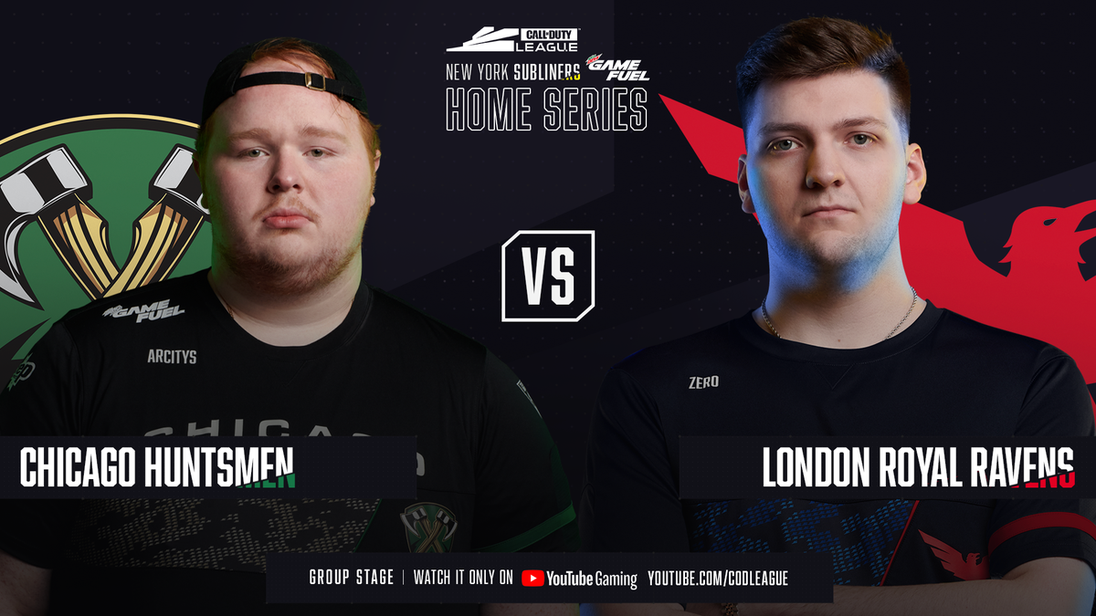 Chicago @Huntsmen vs London @RoyalRavens starting NOW at the New York Home Series! youtube.com/watch?v=VSMWSx… #BeTheHunter | #6thRaven | #CDL2020