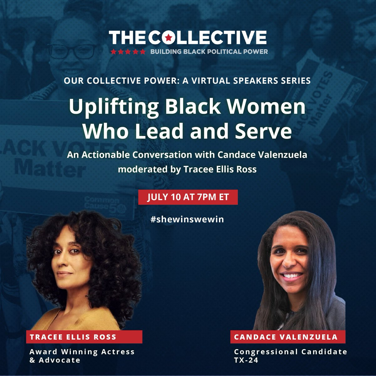 Looking forward to watching this in a couple of hours. Got a chance to meet @candacefor24 It was refreshing to hear her speak. She was very real. She feels like a woman of the people, thats for the people. #shewinswewin