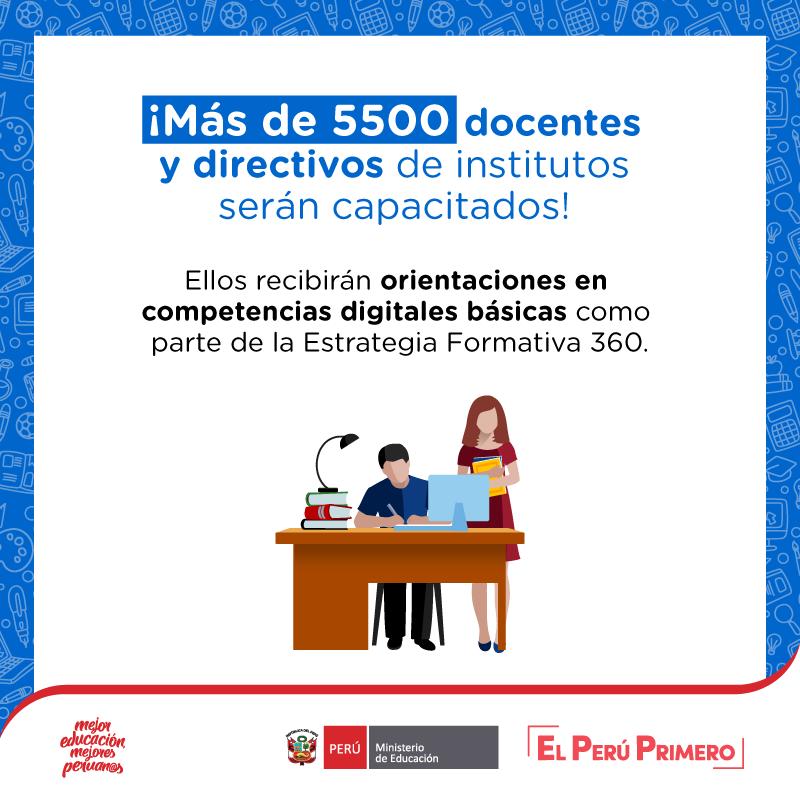 Los docentes y directivos de 323 IEST públicos recibirán formación en competencias digitales básicas, financiado por @el_BID a través del PMESUT. Próximamente brindaremos nuevas oportunidades de capacitación. 💻 https://t.co/cFBLTUjXl8