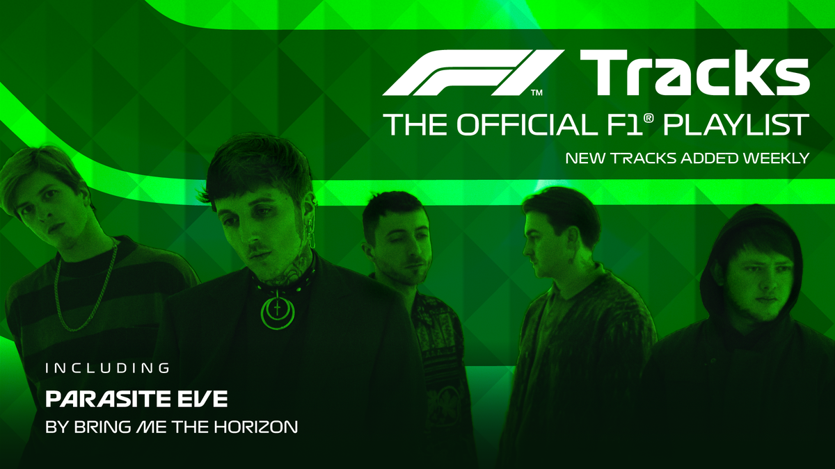 In number 1️⃣ spot on #F1Tracks this weekend is @bmthofficial   Listen to 'Parasite Eve' on Spotify >> https://t.co/RDeL6CWbPa  #AustrianGP 🇦🇹 https://t.co/3OynW2tkVc