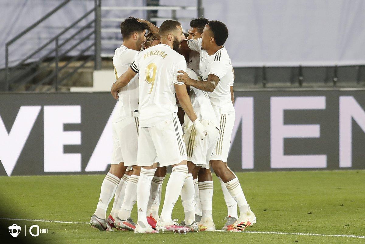 ✅ 2-0 vs Alavés ✅ 1-0 vs Bilbao ✅ 1-0 vs Getafe ✅ 1-0 vs Espanyol ✅ 2-0 vs Majorque ✅ 2-1 vs Real Sociedad ✅ 3-0 vs Valence ✅ 3-1 vs Eibar 8 sur 8 pour le Real Madrid en Liga. 🔥