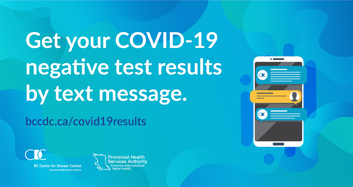 #DYK you can get negative #COVID19 test results through SMS? If you test positive, public health will contact you. To get a text, sign up after you get get tested at https://t.co/um62XoQfIT https://t.co/X1Go77aWDK