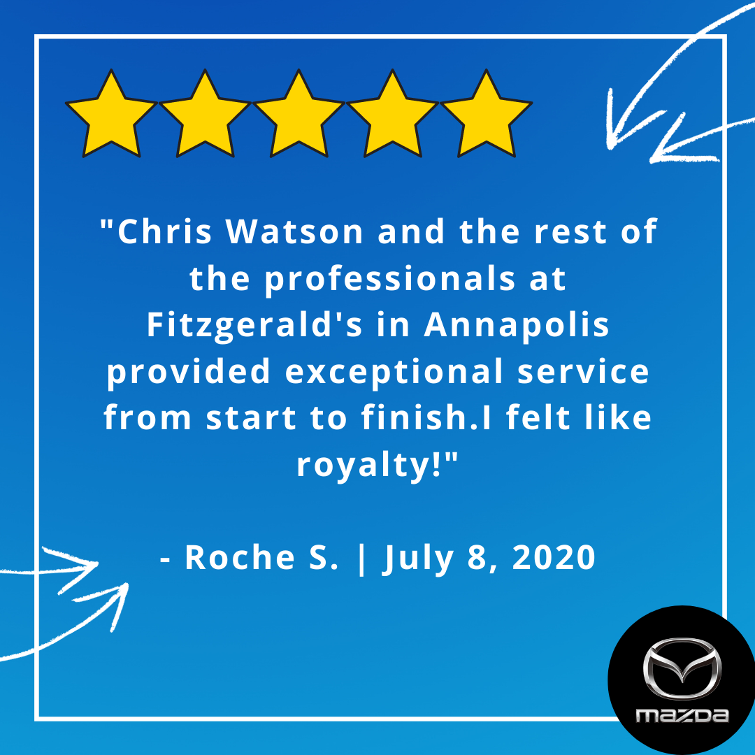 At Fitzgerald #Mazda of Annapolis, you are treated like royalty.  But don't just take our word for it -- see what Roche has to say in his review! #FanFriday #Review pic.twitter.com/4JZAnNizC8
