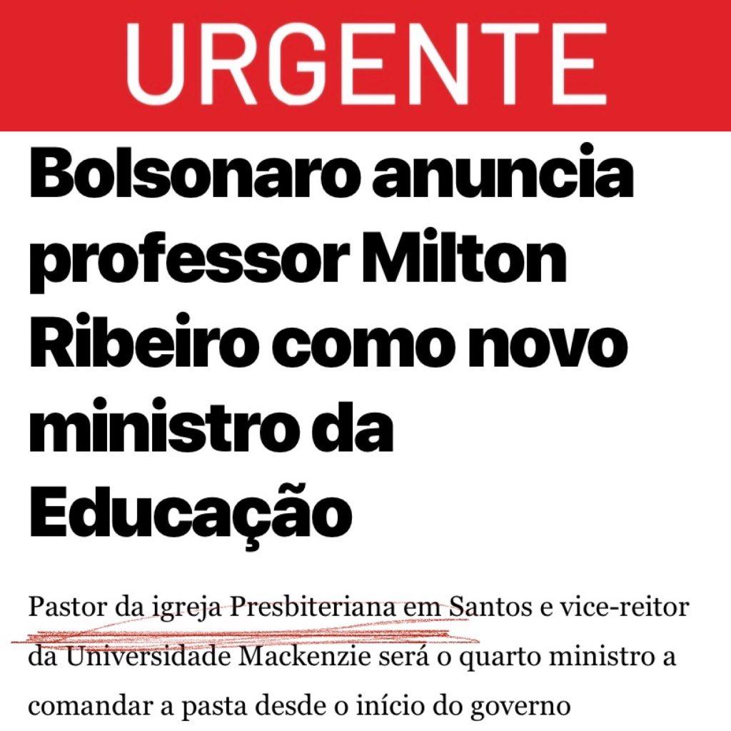 A cada dia @jairmessiasbolsonaro se supera PASTOR DA REDE PRIVADA É O NOVO MINISTRO DA EDUCAÇÃO   🤦♀️ https://t.co/HU8IIru6oz