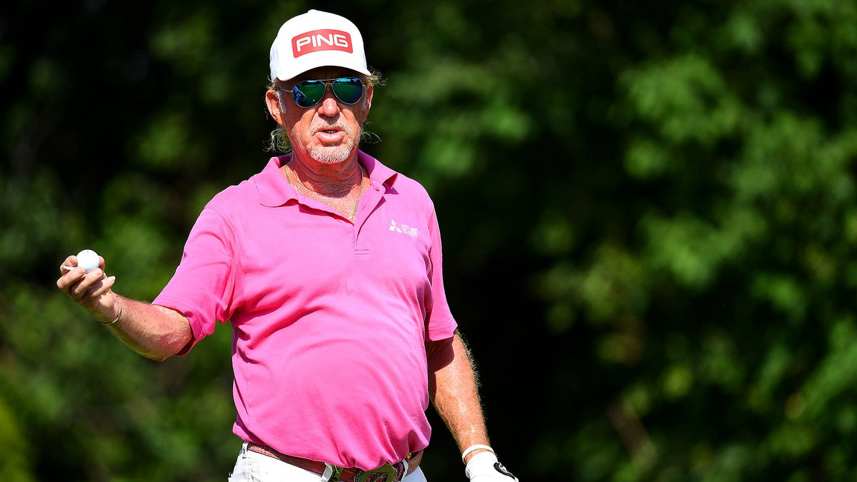 Miguel Angel Jimenez is trying to break his own record again 💪 Already the oldest winner in European Tour history, the 56-year-old moved into position to shatter his own mark as he took the 36-hole lead at the Austrian Open. golfchnl.co/261ff