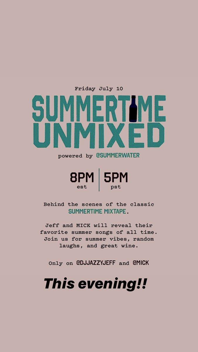 Tonight...@iamMICK and I talk Summertime Mixtape!!! https://t.co/kWXhjAVZOa