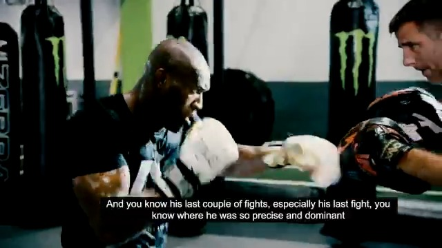 Guys a beast. Hes an animal. @TheRock tells @MeganOlivi he has nothing but great things to say about @USMAN84kg 🇳🇬 #UFC251