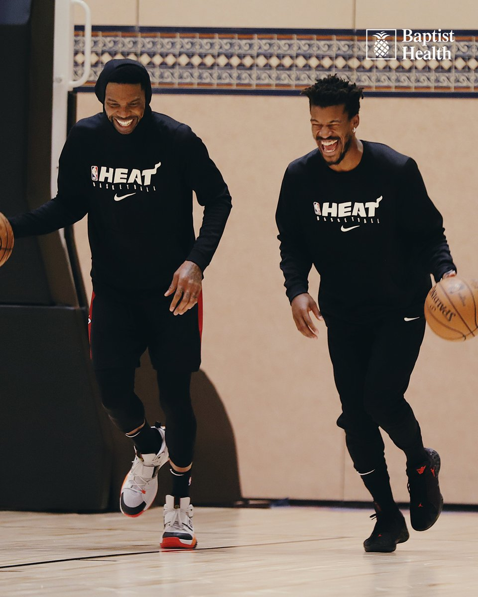 We can understand this kind of happiness after 121 days away from the game. #HEATCulture  @BaptistHealthSF https://t.co/pGBy4so02o