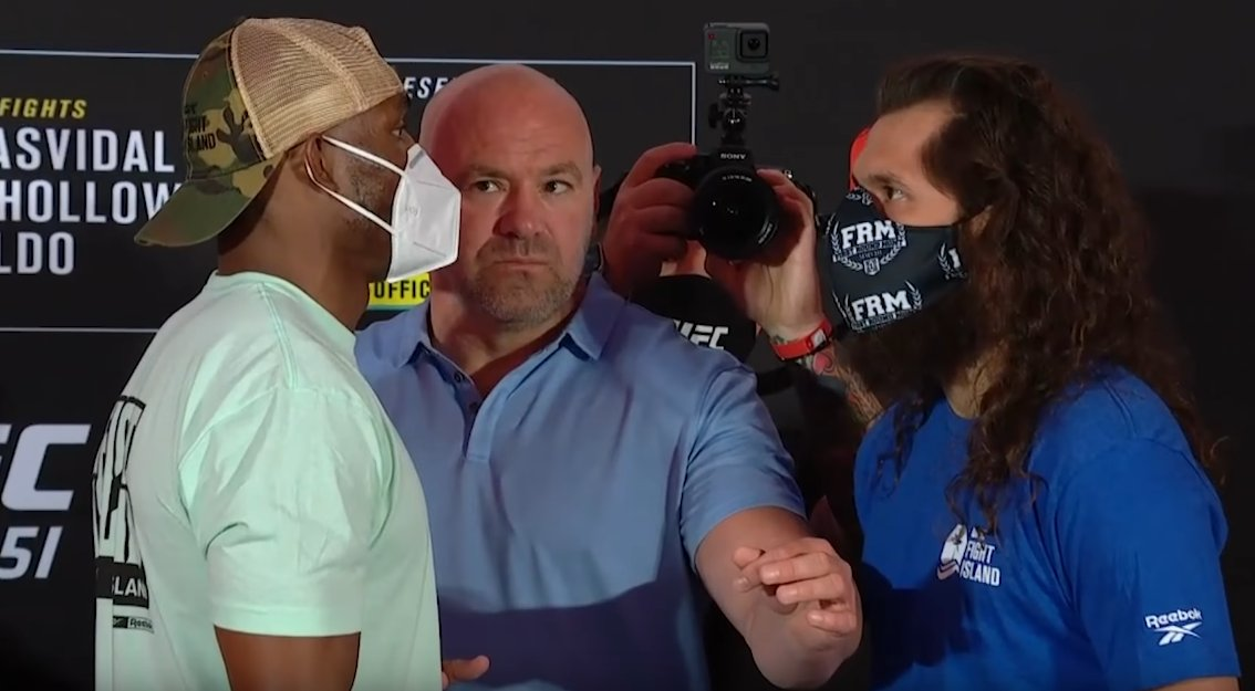 """Dana white thinking inside: """"Come on! Who is stopping you? Push each other and bring more hype. I need more PPV"""". #UFC251 #UFCFightIsland #UFC https://t.co/7BVkNIZrRC"""