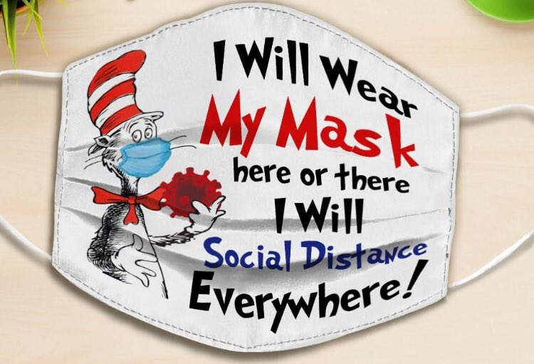 Don't forget your mask and social distancing that keep everyone safe #WearAMask #SocialDistanacing #DrSuess https://t.co/6b8qsTIycl