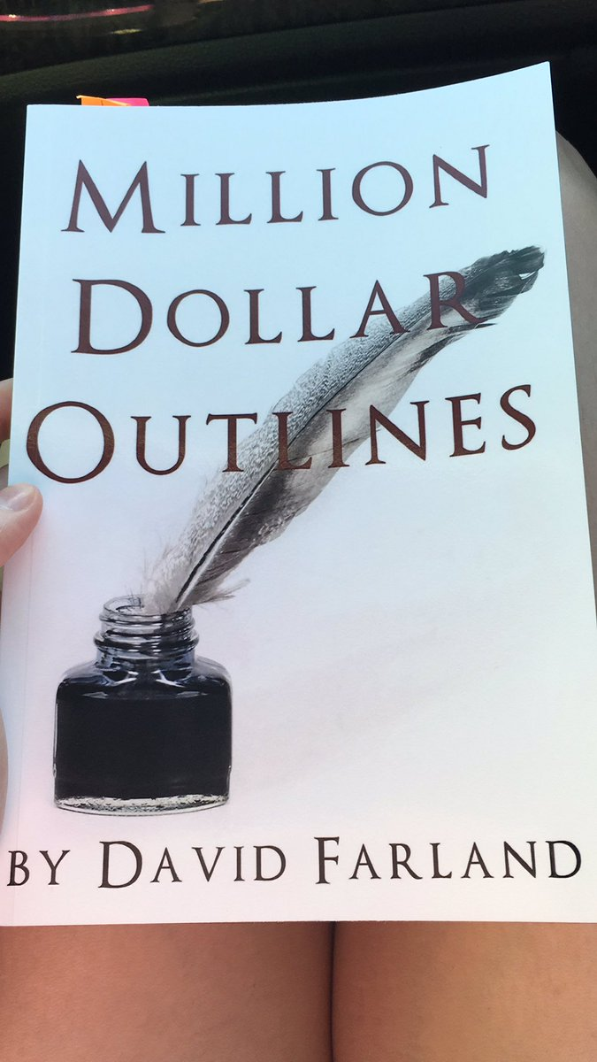 """Have y'all read """"Million Dollar Outlines"""" by @davidfarland? Loving this book and the info on expanding your audience! #writingcommmunity #amwriting #amoutlining #fantasypic.twitter.com/7Ybp0dnbLH"""