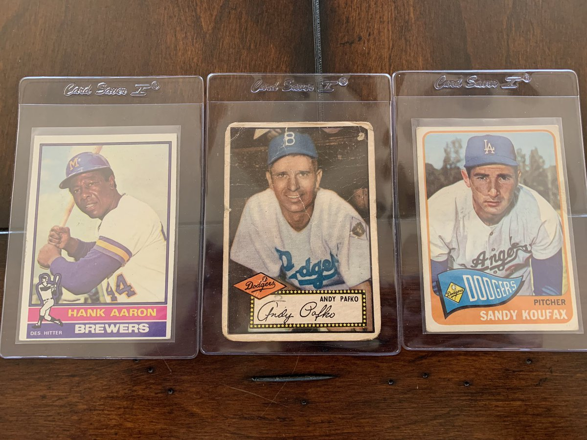 Check out my EBay auctions for these vintage baseball cards. #Dodgers #Braves  1952 Topps Andy Pafko  http://rover.ebay.com/rover/1/711-53200-19255-0/1?icep_ff3=2&pub=5575378759&campid=5338273189&customid=&icep_item=373109568776&ipn=psmain&icep_vectorid=229466&kwid=902099&mtid=824&kw=lg&toolid=11111 …   1965 Topps Sandy Koufax  http://rover.ebay.com/rover/1/711-53200-19255-0/1?icep_ff3=2&pub=5575378759&campid=5338273189&customid=&icep_item=373109566967&ipn=psmain&icep_vectorid=229466&kwid=902099&mtid=824&kw=lg&toolid=11111 …   1976 Topps Hank Aaron  http://rover.ebay.com/rover/1/711-53200-19255-0/1?icep_ff3=2&pub=5575378759&campid=5338273189&customid=&icep_item=373109565544&ipn=psmain&icep_vectorid=229466&kwid=902099&mtid=824&kw=lg&toolid=11111 …pic.twitter.com/OjxYaDIG6l