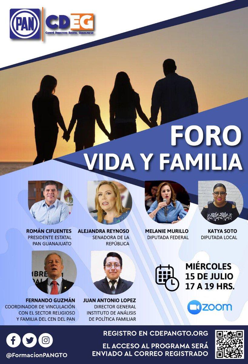 Te invitamos al Foro Vida y Familia impulsado por @PANGuanajuato @FormacionPANGTO @FORMACIONCENPAN con @RomanCifuentes @lalolopezm @WeraReynoso @MurilloMelanie @KatyaSotoPAN1 @FernandoGuzman_   Información y registro en https://t.co/6rkW8fWaXK 📚🖥💙📆  #VaPorTi #LíderesEnAcción https://t.co/MDbQTZtCP9