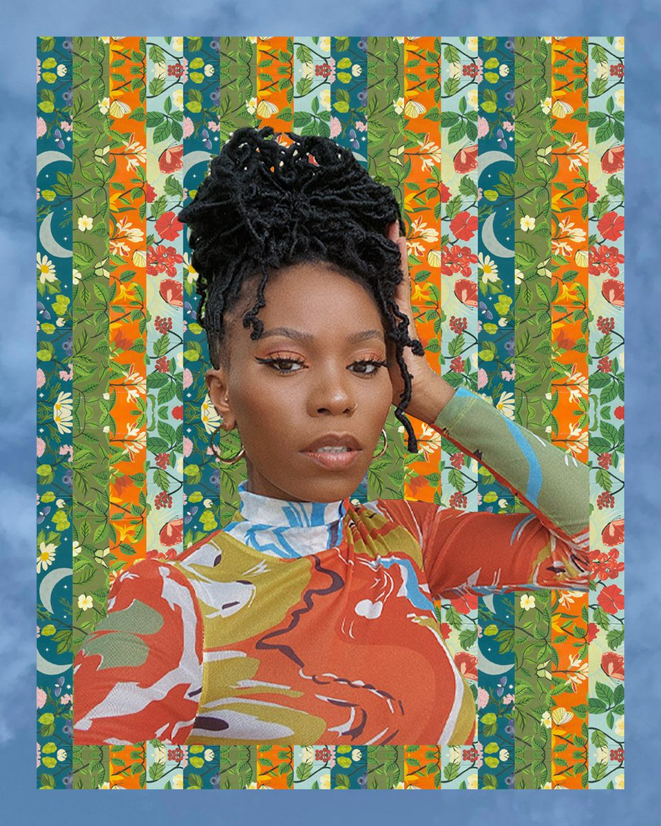 Played around with these images of @ReneStyles_ in @kaicollective . Such a Bad Ass Babe and the print of of this fit??? >>> 🧡💙 https://t.co/t3CZPbiYw8