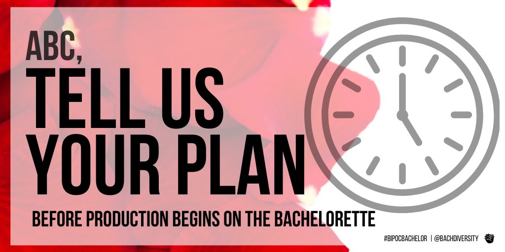 Executive producers @bachnation pledged to make changes. A pledge is not a plan.   #BachelorNation is waiting. #TickTockABC⏰ https://t.co/UrF6HPTBs0
