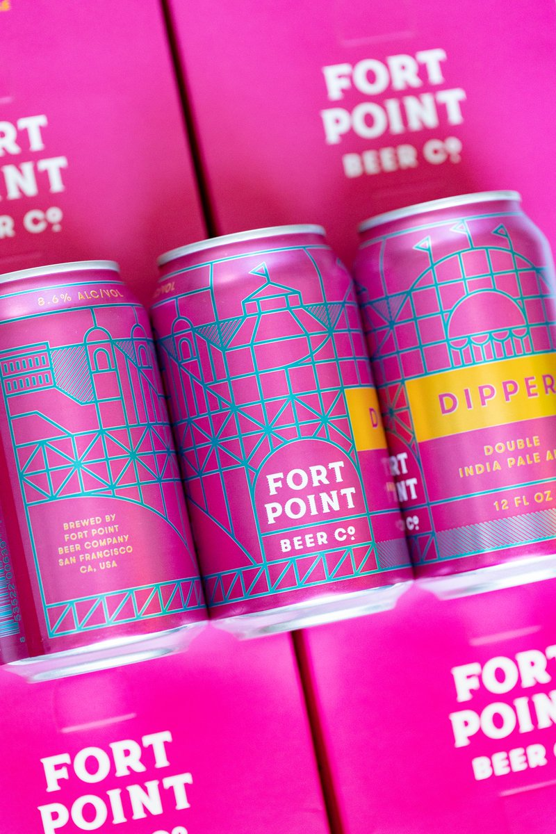 Whats the best way to present a beer thats big, bold and strong? Put it in a HOT PINK can...duh. Dipper is too much in all the right ways. We found unexpected inspiration for the can illustration in Playland, the lively amusement park that neighbored Ocean Beach from... 1/2