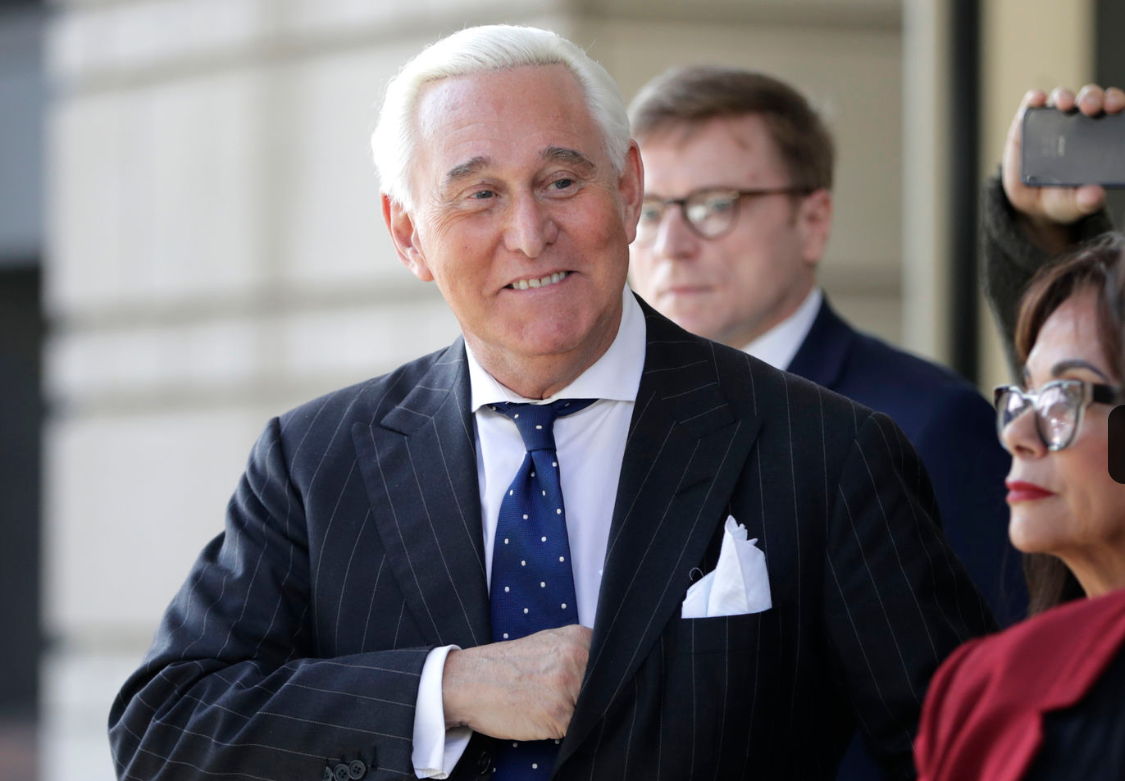 BREAKING: President Trump has commuted Roger Stone's sentence days before he was expected to go to prison.  Stone was sentenced to 3 years, 4 months for lying to Congress, witness tampering and obstructing the Russia investigation.  https://t.co/IB6gJd84lc https://t.co/vVjtgoXgRd