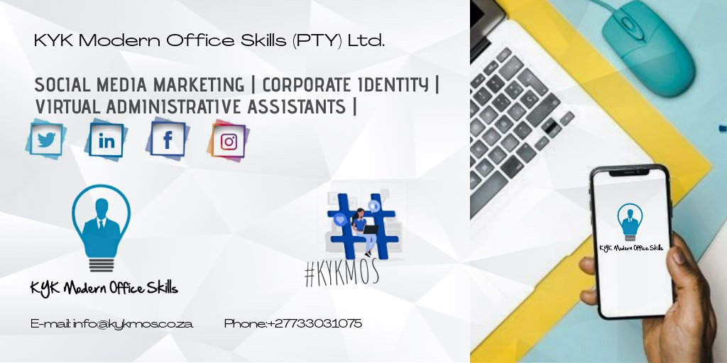 Are you looking for:   - Social Media Marketing  - Corporate Identity (logo, letterhead, flyer, e-mail signature, banners, etc.) - Virtual Administrative Asssistants (VAA)  Contact @KyKMOS_SA   info@kykmos.co.za  +27733031075   Search the tag #KYKMOS  #redtabletalk will<br>http://pic.twitter.com/bJoYV9UkHR