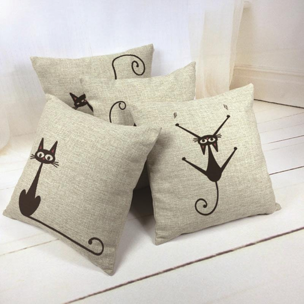 #happy #alternative Cartoon Black Cat Patterned Cushion Cover pic.twitter.com/emCGBhdDnD